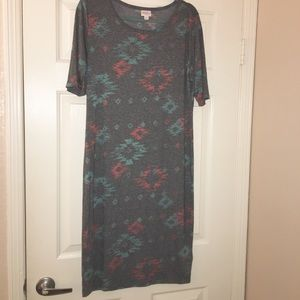 Lularoe gray dress size xl